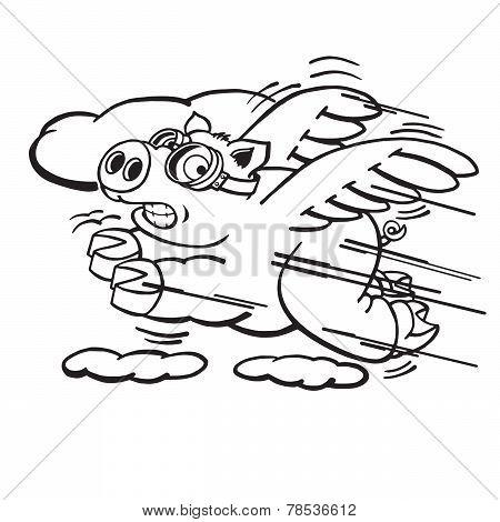 450x470 Flying Pig Images, Illustrations, Vectors