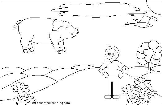 527x341 Flying Pig Printout