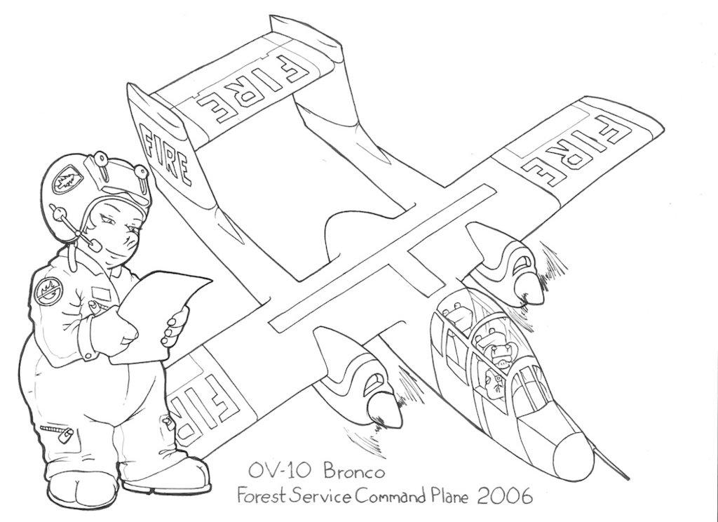 1024x744 Flying Pigs Coloring Book Ov 10 Bronco By Barkon68