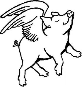280x295 Pig Drawing Outline
