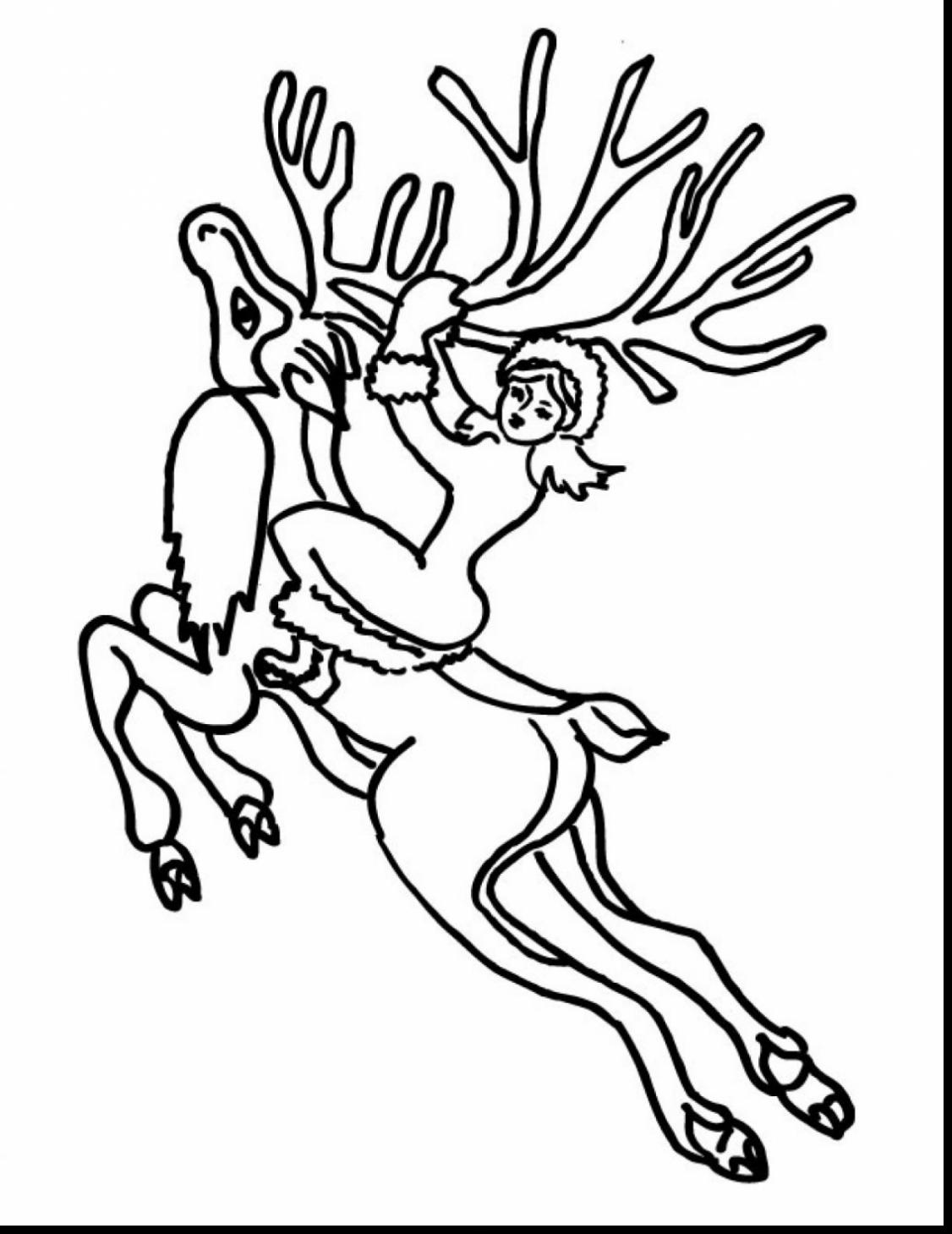 Flying Reindeer Drawing at GetDrawings.com | Free for personal use ...