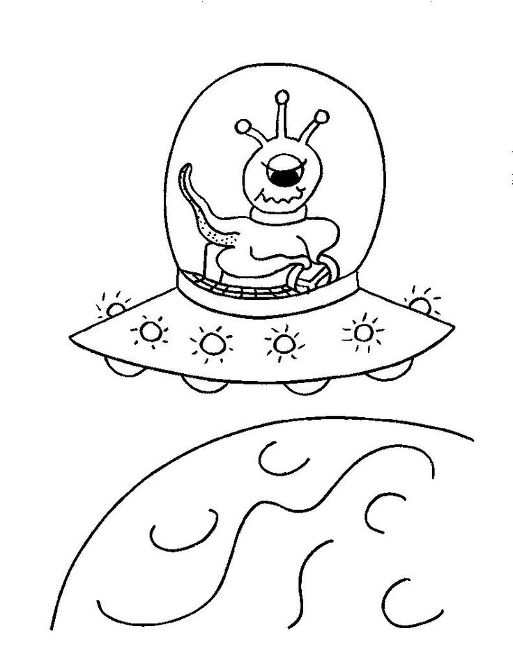 Flying Saucer Drawing