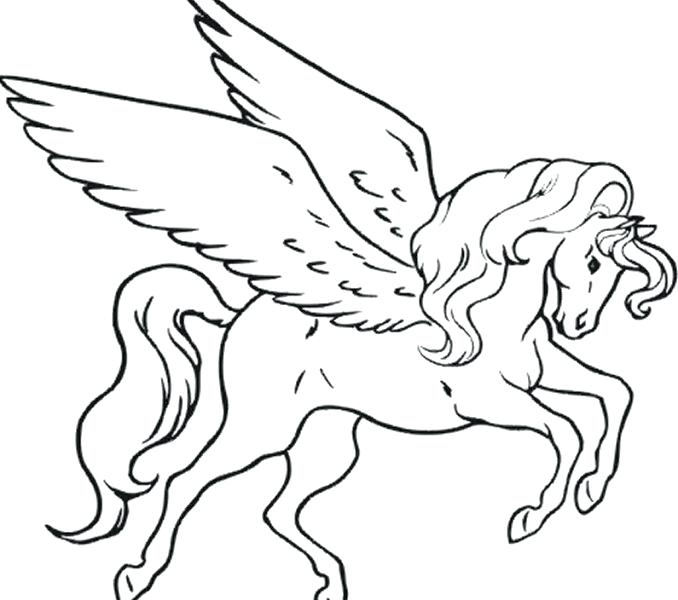 678x600 Unicorn Color Page Flying Unicorn Coloring Pages Unicorn Coloring