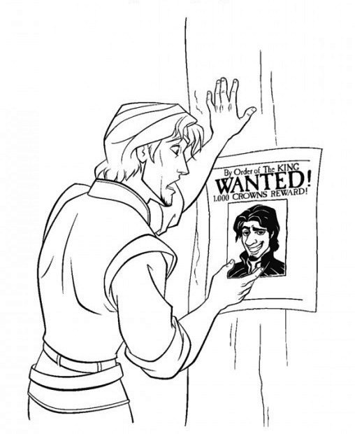 508x620 Flynn Rider Coloring Pages
