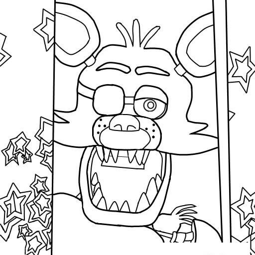 512x512 fnaf coloring pages 4 coloring pages for kids