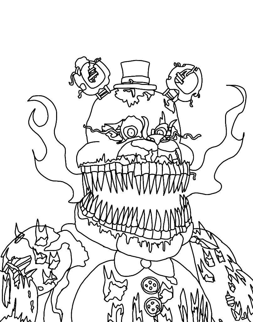 807x1024 Five Nights At Freddys 4 Coloring Pages Nightmarel