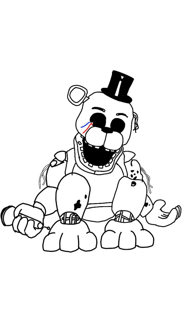 pages of freddy fazbears head coloring pages