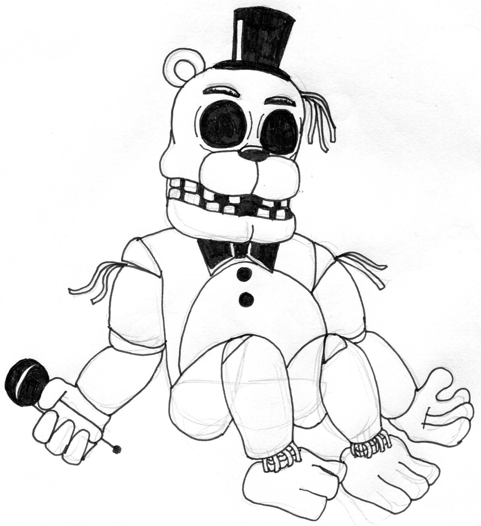 Fnaf Golden Freddy Drawing at GetDrawings   Free download