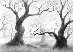 236x168 Sketch Of Twisted Tree Ink Amp Metal