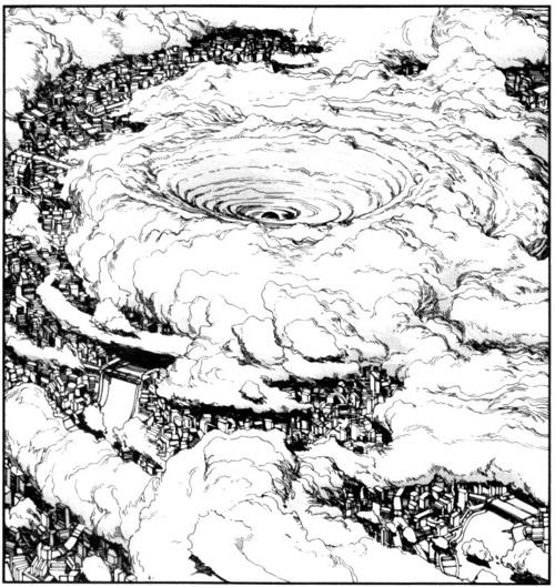 500x529 Akira Cloud Fog City Ill Ustration Draw