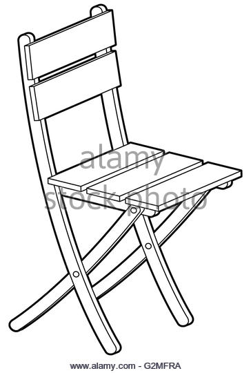 364x540 Folding Chair Cut Out Black And White Stock Photos Amp Images