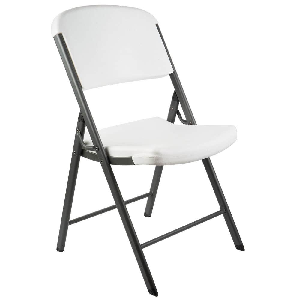 1000x1000 Lifetime 2802 White Contoured Folding Chair