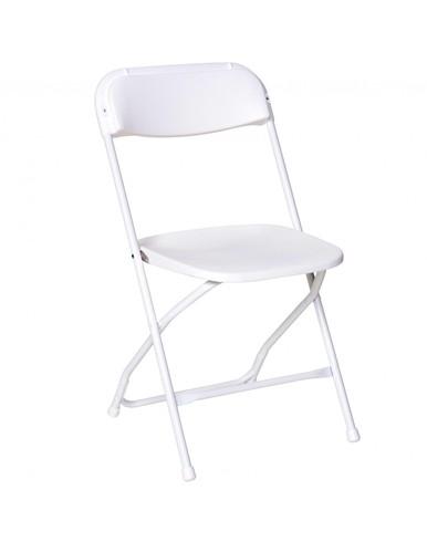 386x490 Rhino Series White Plastic Folding Chair