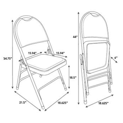 512x512 Samsonite Comfort Series Steel Folding Chair W Memory Foam Padded