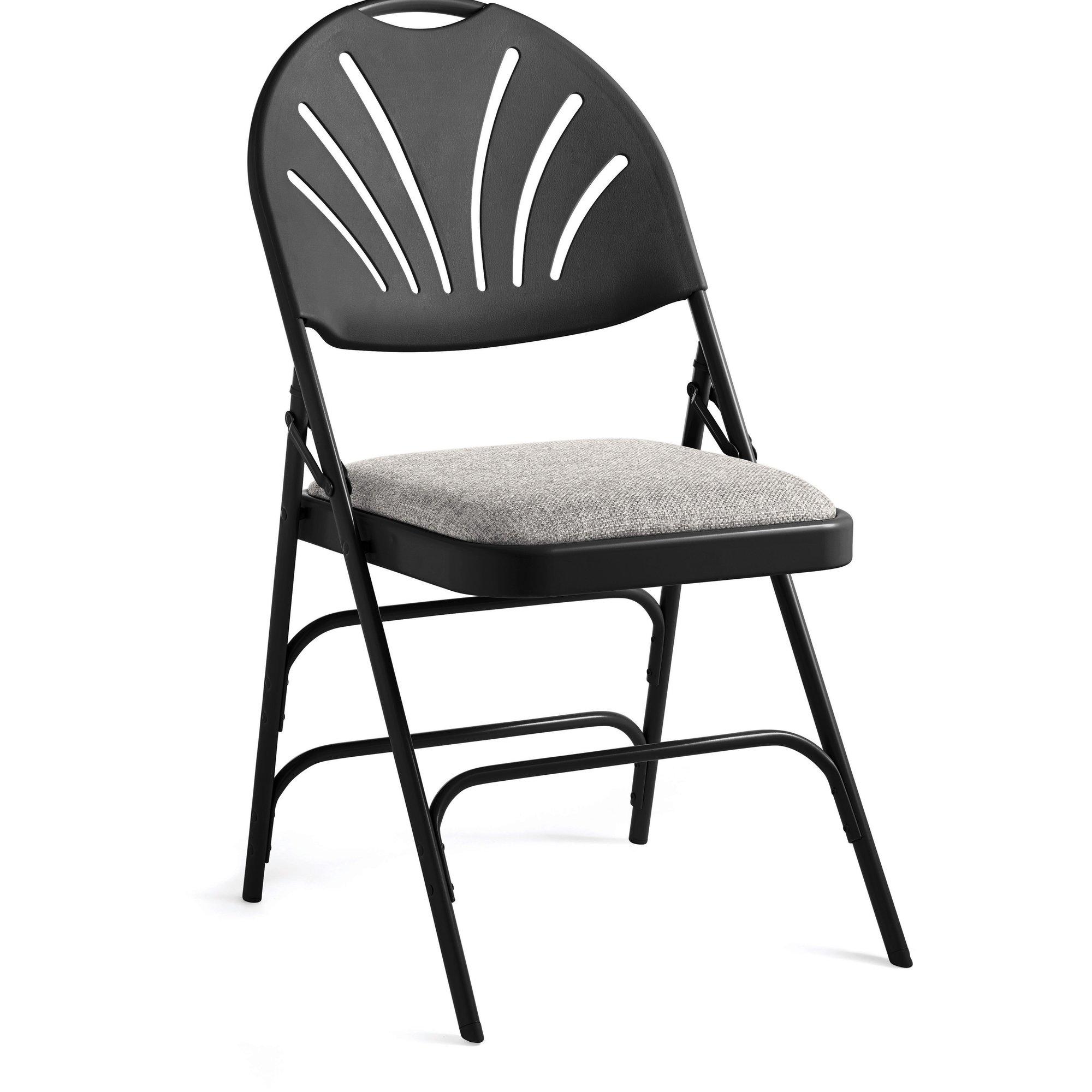 2000x2000 Samsonite Fanback Fabric Padded Folding Chair Set Of 4 Ebay