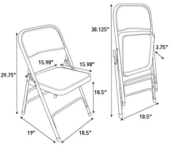 337x290 Samsonite Furniture Steel Folding Chairs