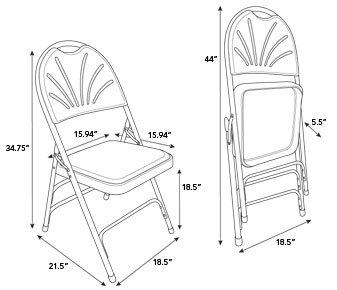 337x290 Samsonite Furniture 3000 Series Vinyl Padded Folding Chair Wayfair