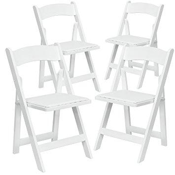 355x355 Flash Furniture 4 Pk. Hercules Series White Wood