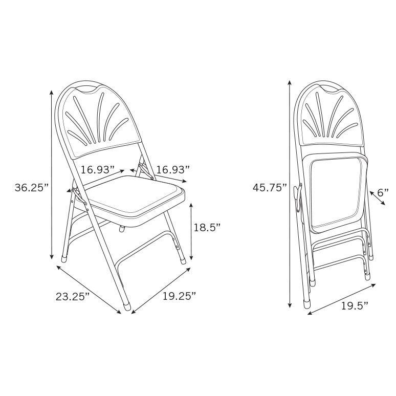 774x774 Samsonite Steel Folding Chair (Case4)