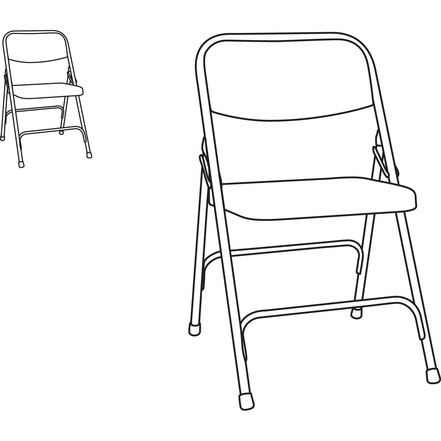 1500x1500 Steel Folding Chair With Two Brace Support By Alefc94t