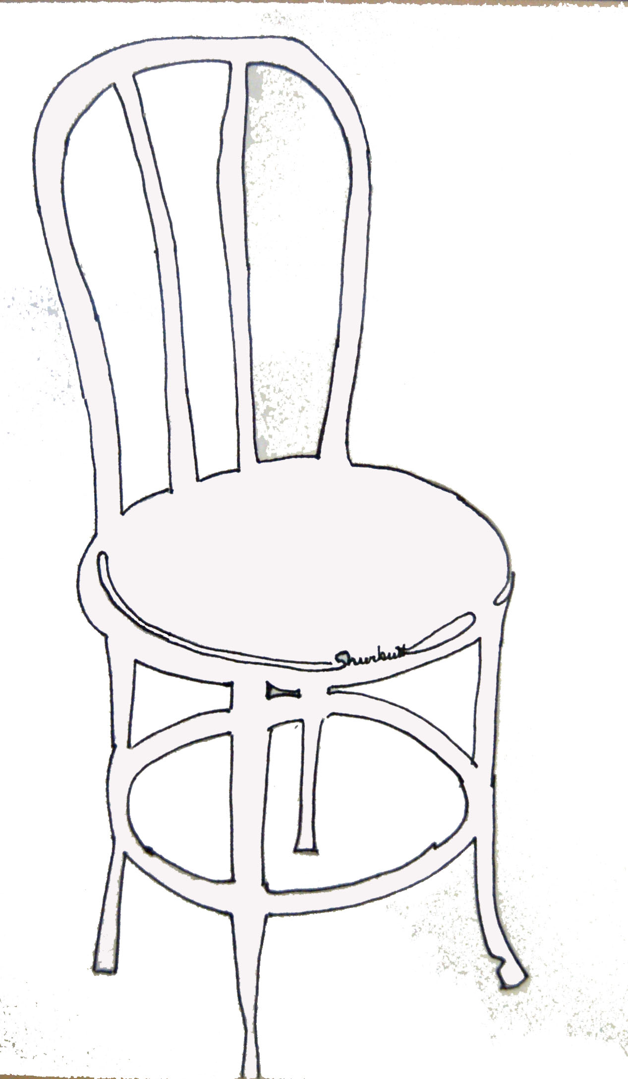 1267x2176 Thonet Chair Ink Drawing My Work Sketches