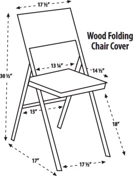 265x350 Ultimate Folding Chair Cover (Wood Chair)