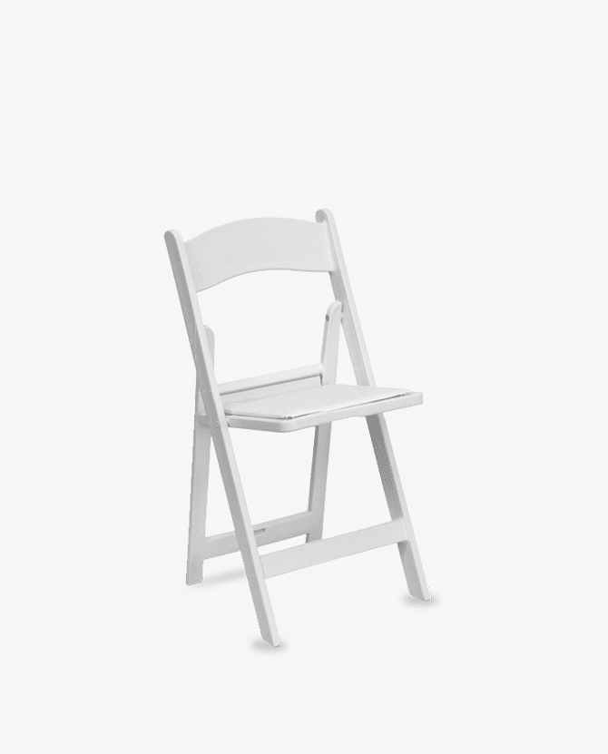 670x831 White Resin Folding Chair