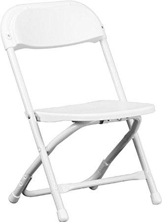 329x450 Flash Furniture Kids White Plastic Folding Chair