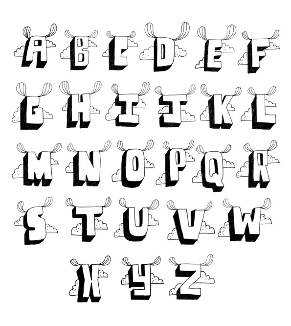 595x666 How To Draw Your Own Fonts