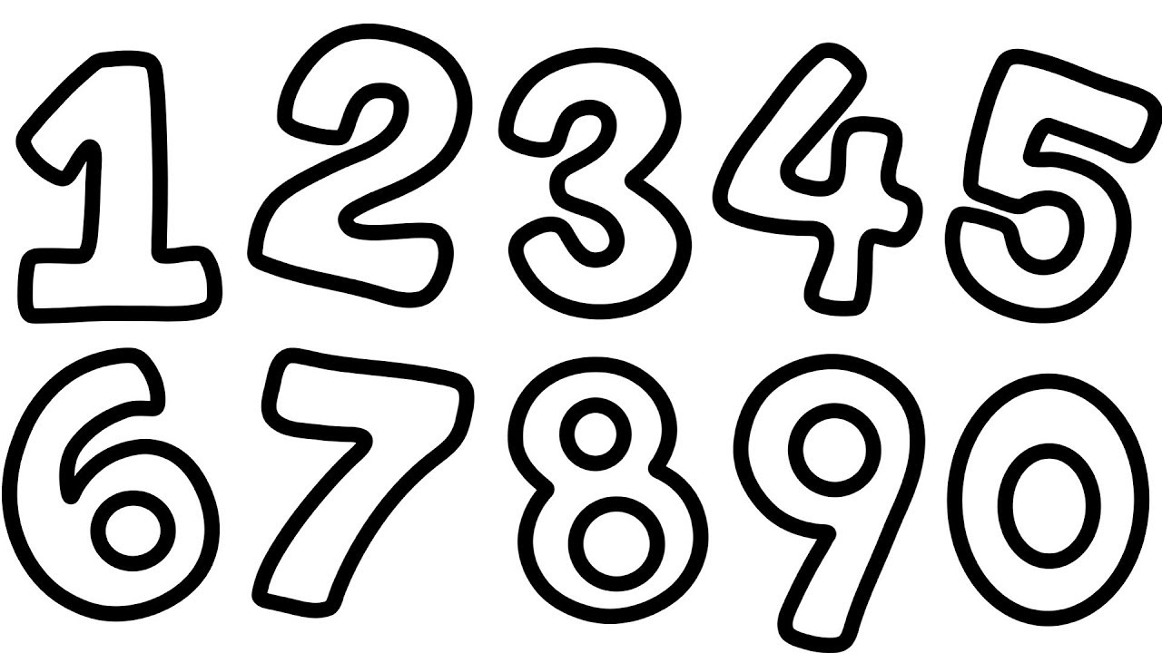 1280x720 How To Draw Numbers 1 To 9 For Kid Learn Counting Numbers Coloring