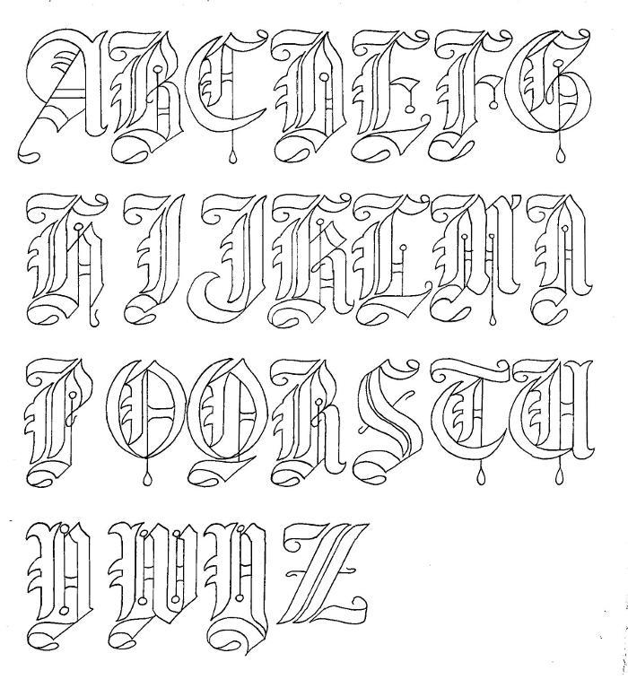 700x757 Nagahama Gothic Font Art Of Kris Larsen