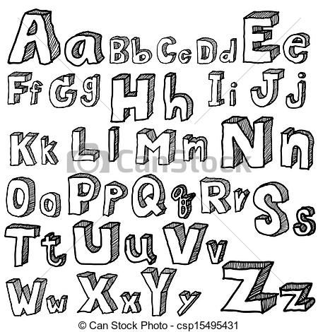 450x470 Drawings Of Different Fonts And Alphabet