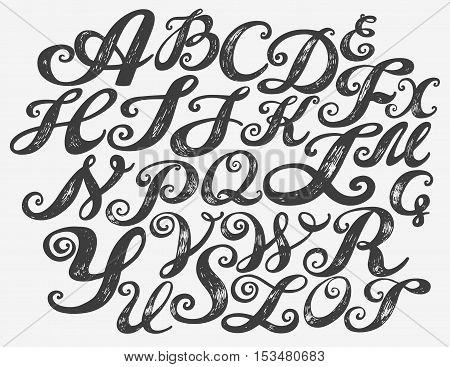 450x367 Calligraphy Alphabet Typeset Vector Amp Photo Bigstock