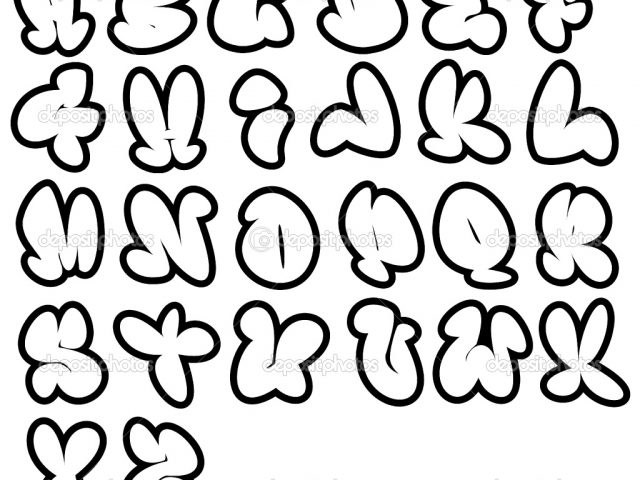 640x480 Cool Letter Fonts To Draw Bubble Cute