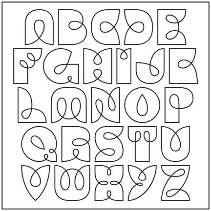432x433 Drawn Lettering Alphabet
