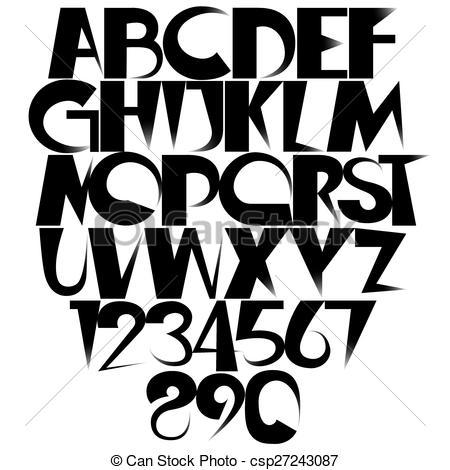 450x470 fading alphabet sharp fading black gradient creative font
