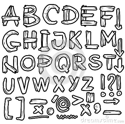 400x398 Hand Drawn Grungy Font Doodles Doodle Background 34781179 400