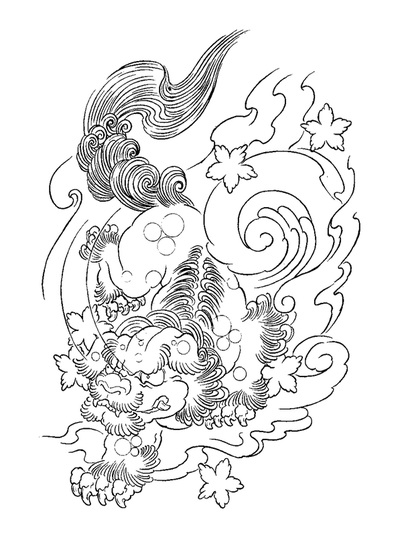 400x536 Foo Dog Coloring Pages