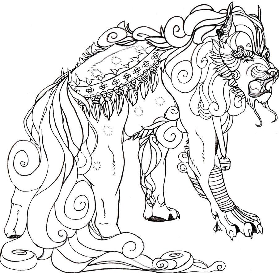 906x881 Fu Dog Color Sheet By Proxycat