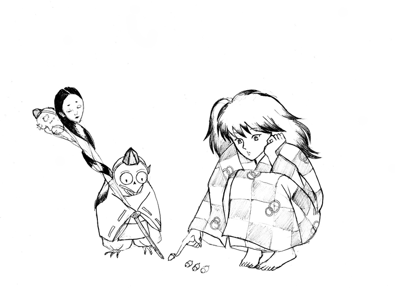 775x567 Rin And Jaken Sketch By Foo Dog