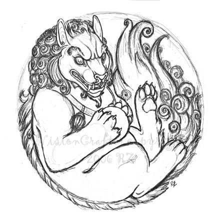 440x440 Foo Dog Sketch 2.0 By Visioncrafter