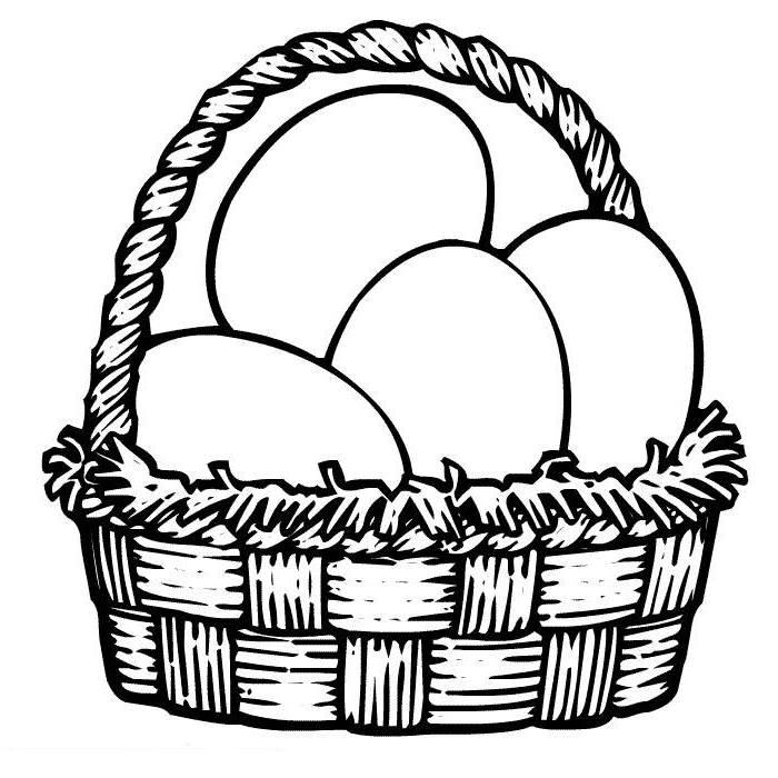 700x700 Easter Egg Basket Drawing Hd Easter Images