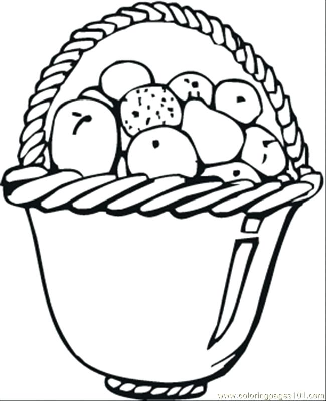 650x798 Fruit Basket Coloring Pages Coloring Pages Apples In Basket Food
