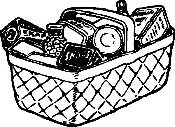 600x438 Picnic Basket Clip Art