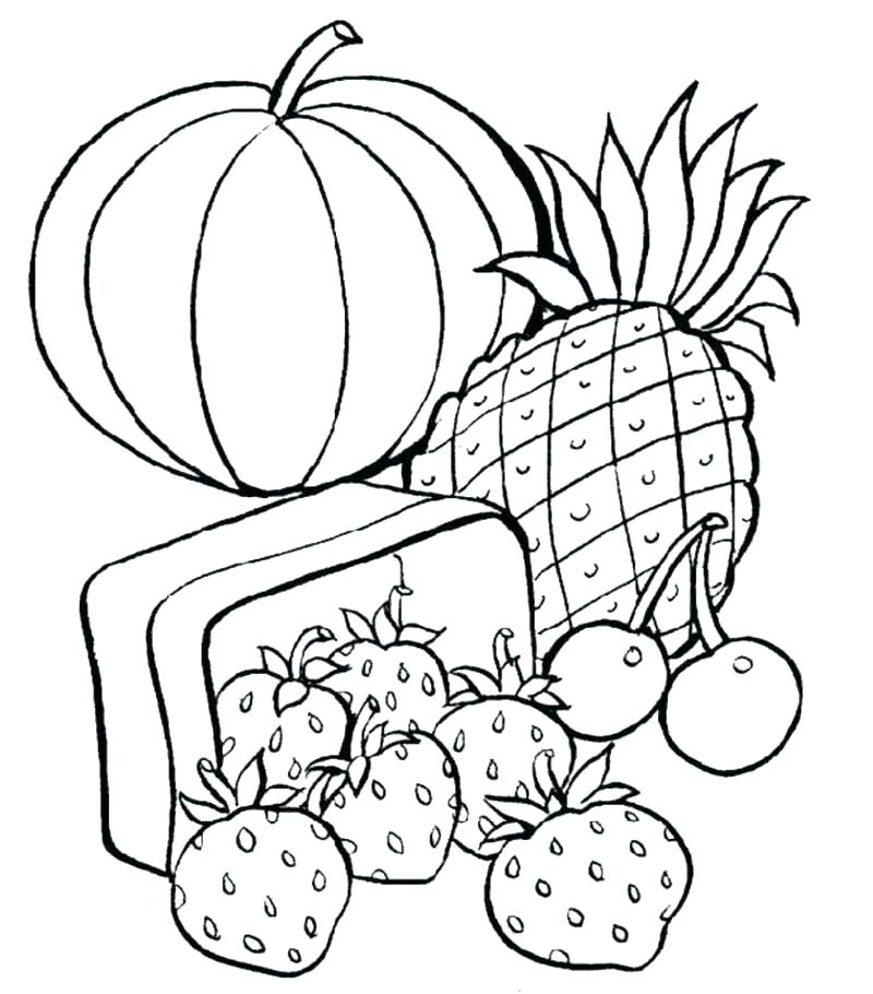 800x910 Picnic Basket Coloring Page Food Coloring Page Epic Healthy Food
