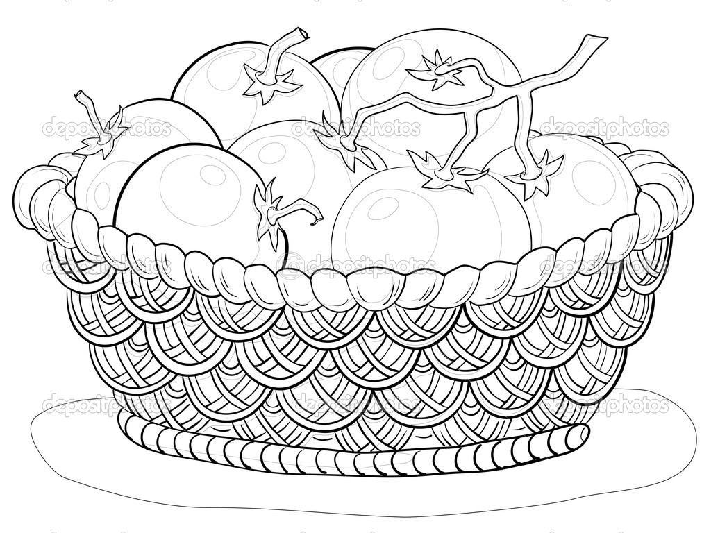 1024x768 Basket Drawing