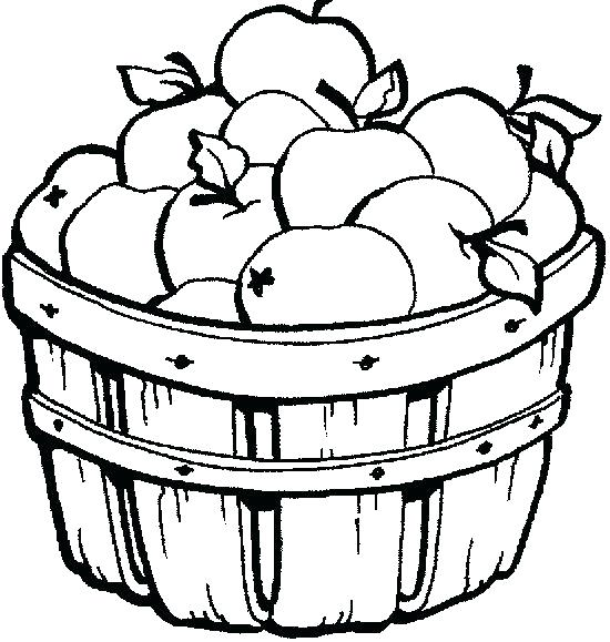 550x579 Fruit Basket Coloring Pages
