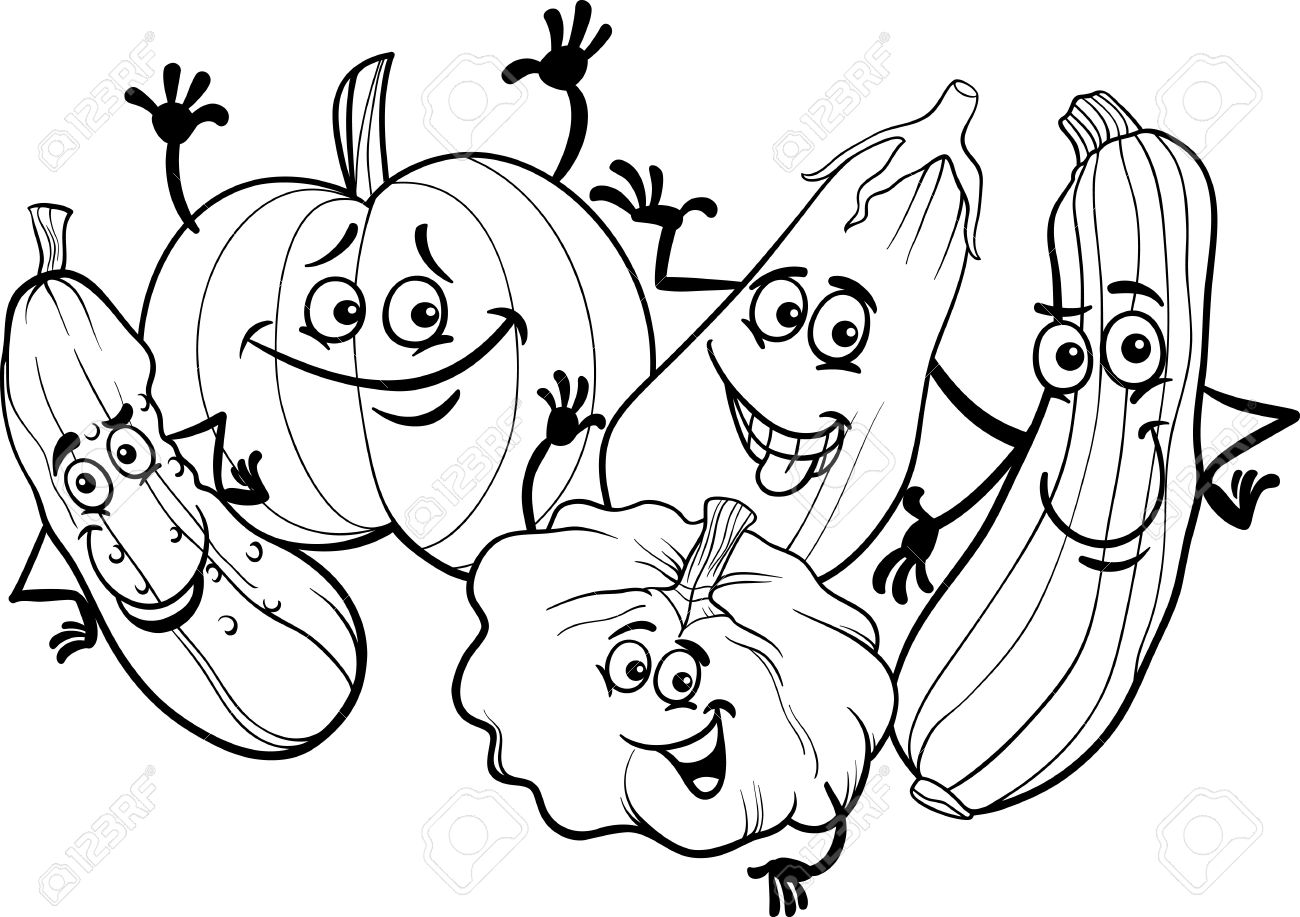 1300x917 Cartoon Vegetables Drawings Cartoon Fruit Drawings
