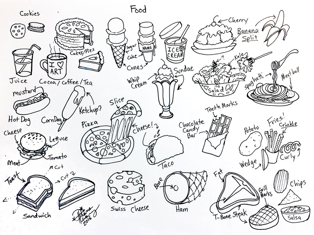 1024x766 Draw Food By Diana Huang