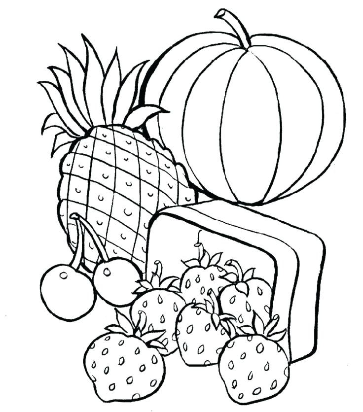 736x836 Healthy Food Coloring Pages Free Printabl On Food Coloring Pages